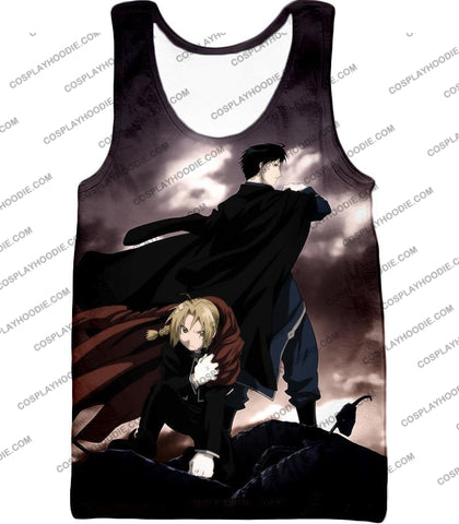 Image of Fullmetal Alchemist Amazing State Alchemists Edward X Roy Awesome Anime T-Shirt Fa001 Tank Top / Us
