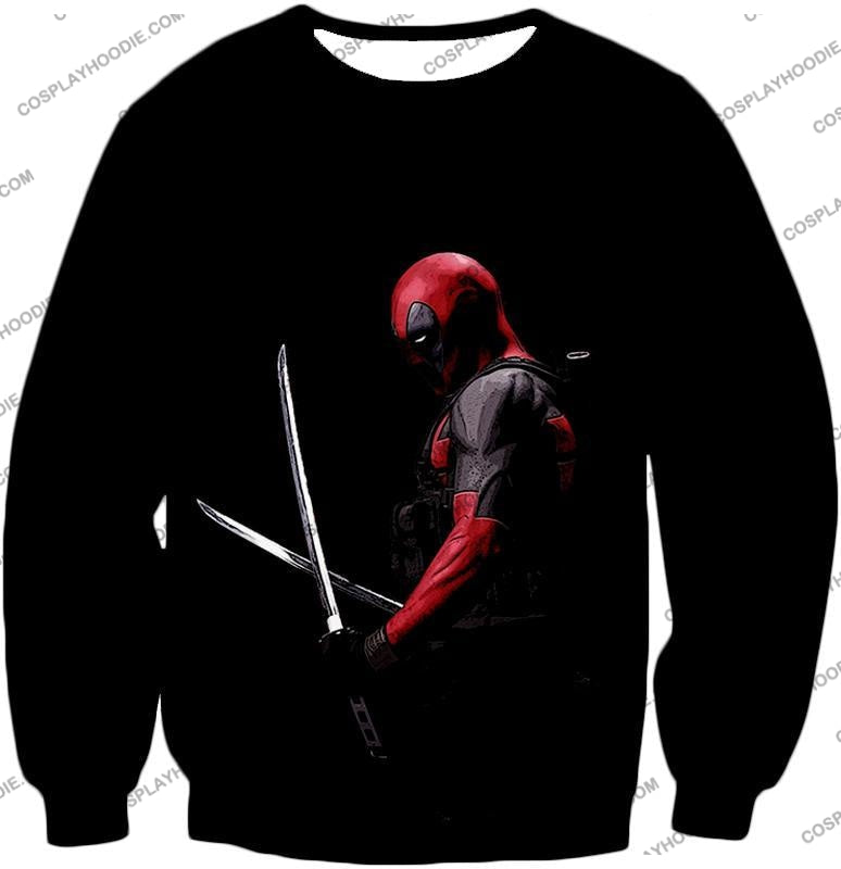 Marvels Ultimate Mercenary Deadpool Cool Black T-Shirt Dp001 Sweatshirt / Us Xxs (Asian Xs)