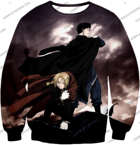 Image of Fullmetal Alchemist Amazing State Alchemists Edward X Roy Awesome Anime T-Shirt Fa001 Sweatshirt /