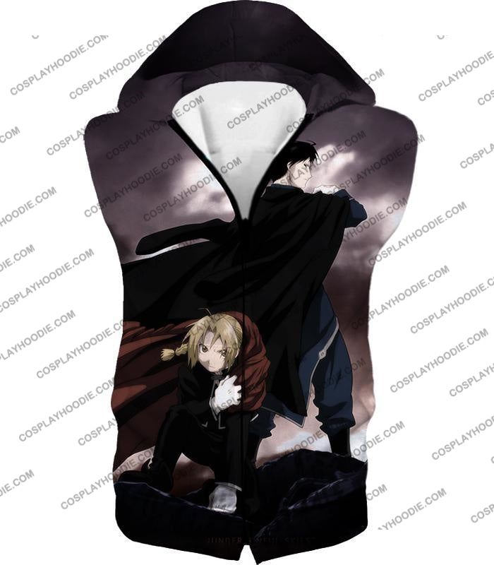 Fullmetal Alchemist Amazing State Alchemists Edward X Roy Awesome Anime T-Shirt Fa001 Hooded Tank
