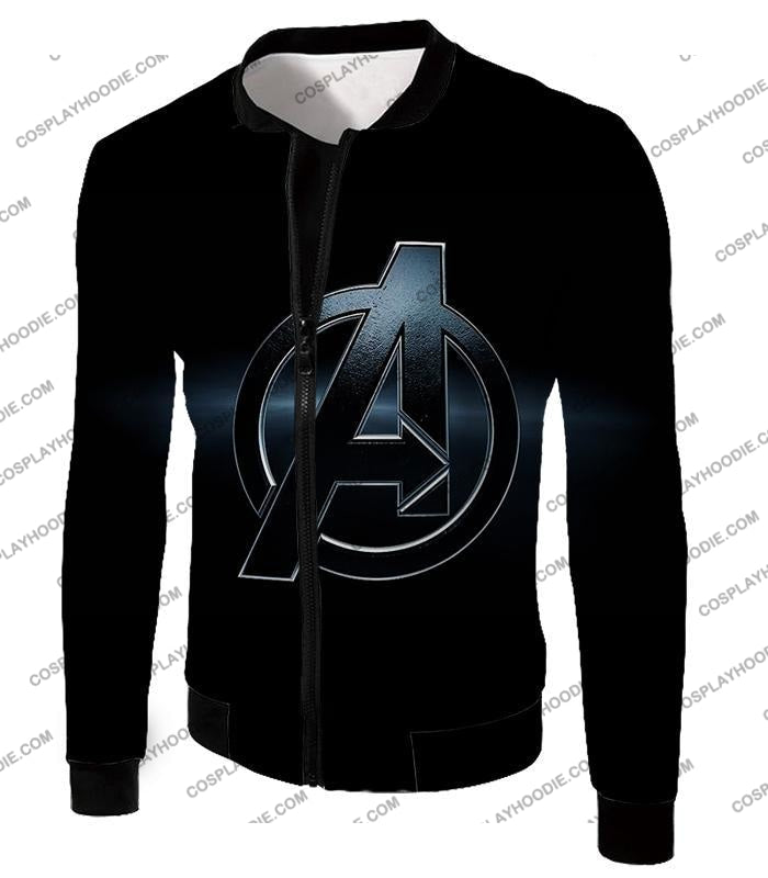 The Avengers Awesome Black Logo T-Shirt Ta001 Jacket / Us Xxs (Asian Xs)