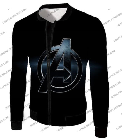 Image of The Avengers Awesome Black Logo T-Shirt Ta001 Jacket / Us Xxs (Asian Xs)