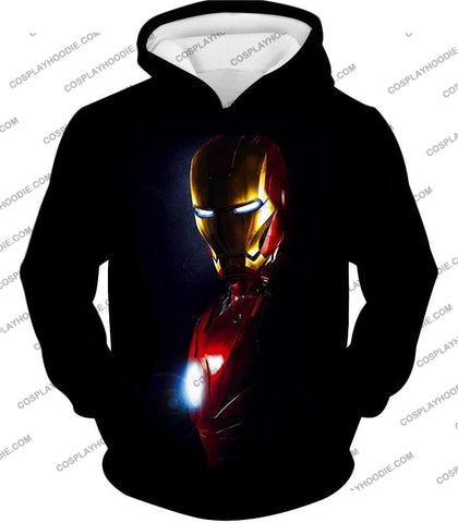 Image of Best Superhero Iron Man Black T-Shirt Im010 Hoodie / Us Xxs (Asian Xs)