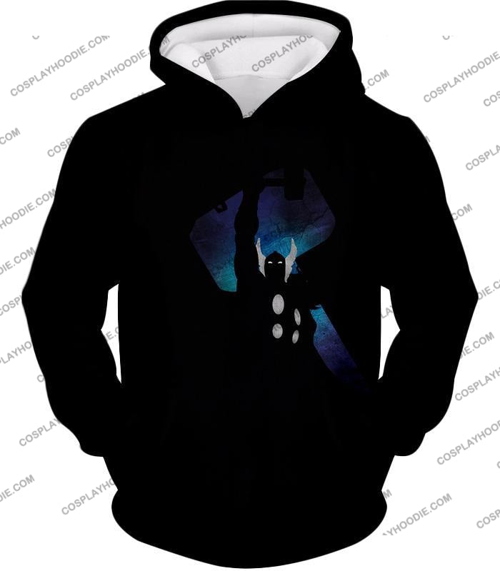Marvels Ultimate Hero Thor Promo Black T-Shirt Thor010 Hoodie / Us Xxs (Asian Xs)