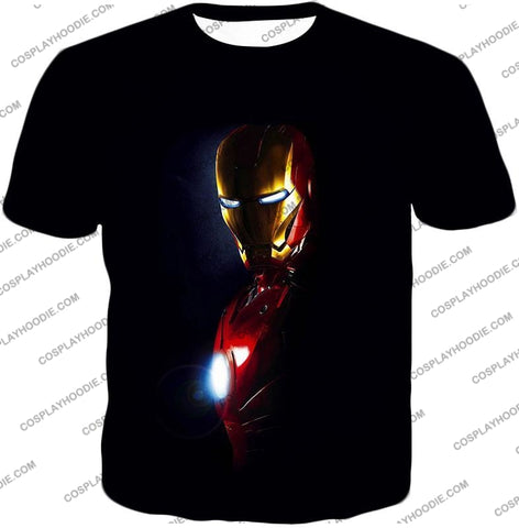 Image of Best Superhero Iron Man Black T-Shirt Im010 / Us Xxs (Asian Xs)