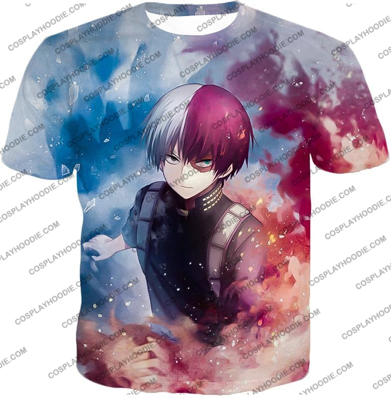 My Hero Academia Super Skilled Half Cold Hot Shoto Ultimate Action T-Shirt Mha060 / Us Xxs (Asian
