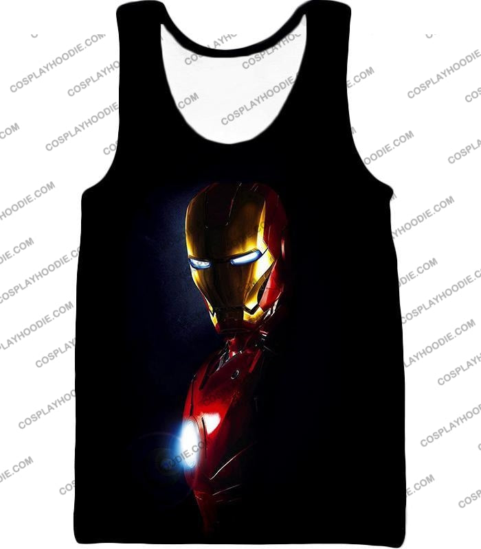 Best Superhero Iron Man Black T-Shirt Im010 Tank Top / Us Xxs (Asian Xs)