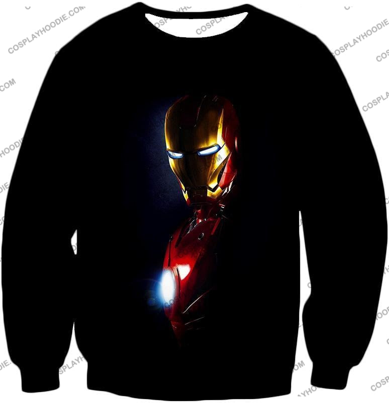 Best Superhero Iron Man Black T-Shirt Im010 Sweatshirt / Us Xxs (Asian Xs)