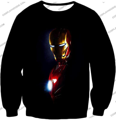 Image of Best Superhero Iron Man Black T-Shirt Im010 Sweatshirt / Us Xxs (Asian Xs)