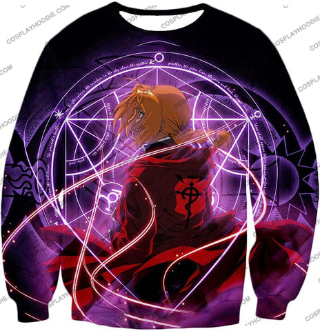 Image of Fullmetal Alchemist Edward Elrich Anime Alchemy Action T-Shirt Fa010 Sweatshirt / Us Xxs (Asian Xs)