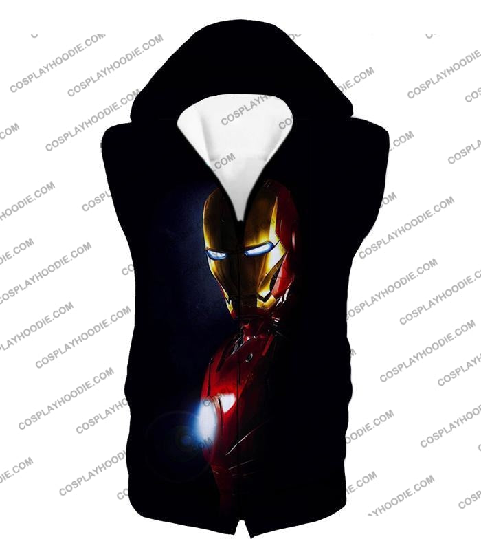Best Superhero Iron Man Black T-Shirt Im010 Hooded Tank Top / Us Xxs (Asian Xs)