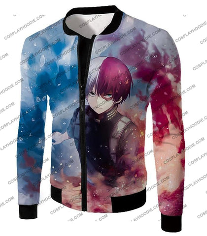 Image of My Hero Academia Super Skilled Half Cold Hot Shoto Ultimate Action T-Shirt Mha060 Jacket / Us Xxs