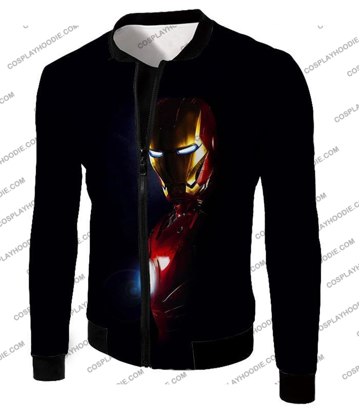 Best Superhero Iron Man Black T-Shirt Im010 Jacket / Us Xxs (Asian Xs)