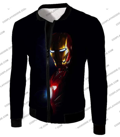 Image of Best Superhero Iron Man Black T-Shirt Im010 Jacket / Us Xxs (Asian Xs)