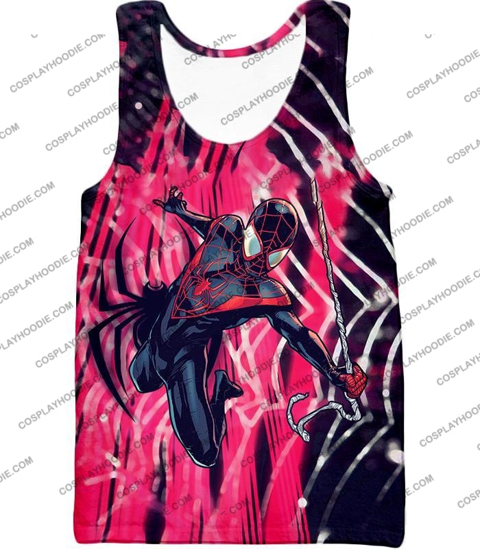 Amazing Black Spiderman Animated Action T-Shirt Sp100 Tank Top / Us Xxs (Asian Xs)