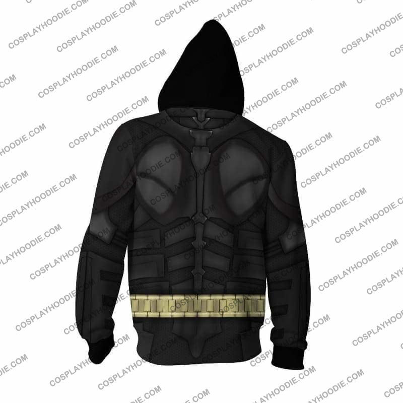 Batman Arkham Knight Cosplay Jacket Zip Up Hoodie