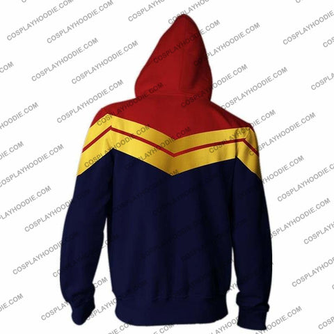 Image of Captain Marvel Jacket-Zip Up Hoodie Cosplay Jacket
