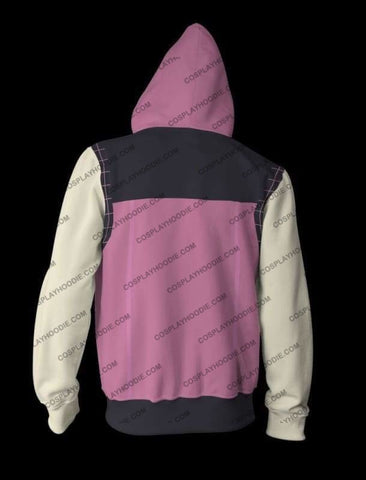 Kingdom Hearts Iii Kairi Pink Zip Up Hoodie Jacket Cosplay