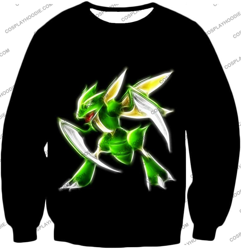 Pokemon Awesome Flying Bug Type Scyther Cool Black T-Shirt Pkm104 Sweatshirt / Us Xxs (Asian Xs)
