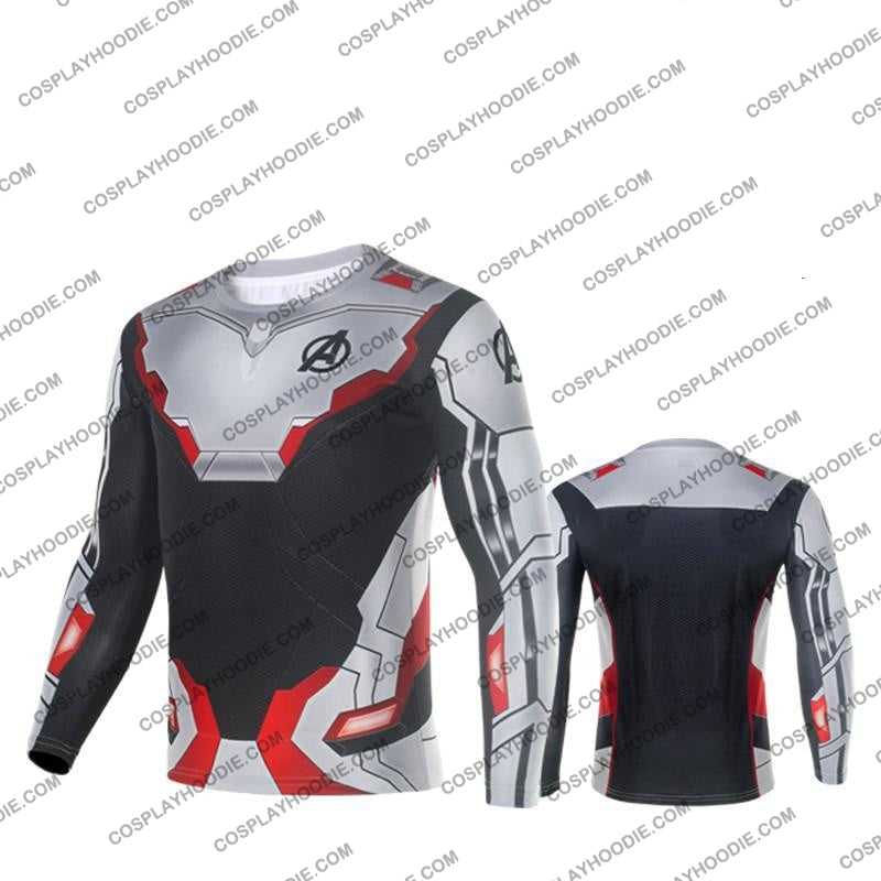 The Avengers 4 Avengers: Endgame Quantum Suits White Suit Cosplay T-Shirt Long Sleeves / Us Xs