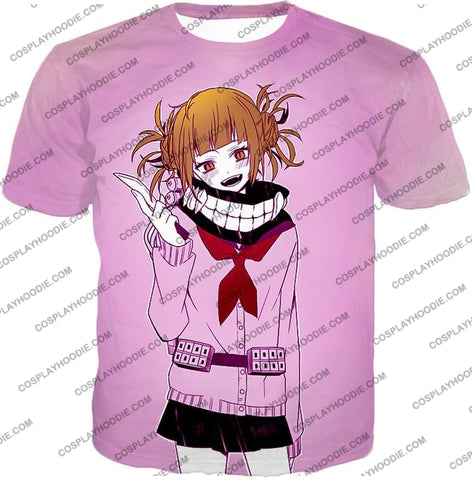 Image of My Hero Academia Dangerous And Cool Villain Himiko Toga Promo Purple T-Shirt Mha061 / Us Xxs (Asian