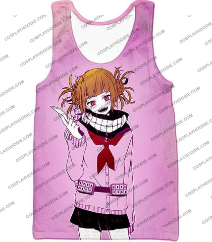 Image of My Hero Academia Dangerous And Cool Villain Himiko Toga Promo Purple T-Shirt Mha061 Tank Top / Us