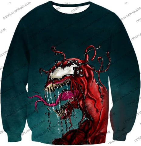 Deadly Alien Symbiote Venom T-Shirt Ve011 Sweatshirt / Us Xxs (Asian Xs)
