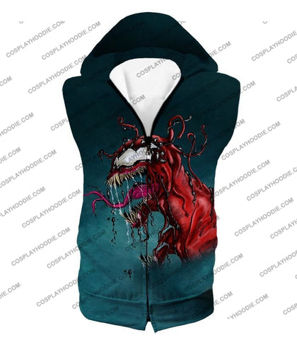 Deadly Alien Symbiote Venom T-Shirt Ve011 Hooded Tank Top / Us Xxs (Asian Xs)