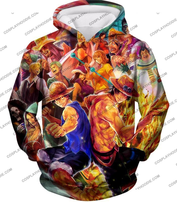 One Piece Cool All Favourite Characters Awesome T-Shirt Op113 Hoodie / Us Xxs (Asian Xs)
