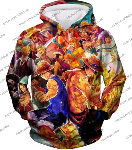 Image of One Piece Cool All Favourite Characters Awesome T-Shirt Op113 Hoodie / Us Xxs (Asian Xs)