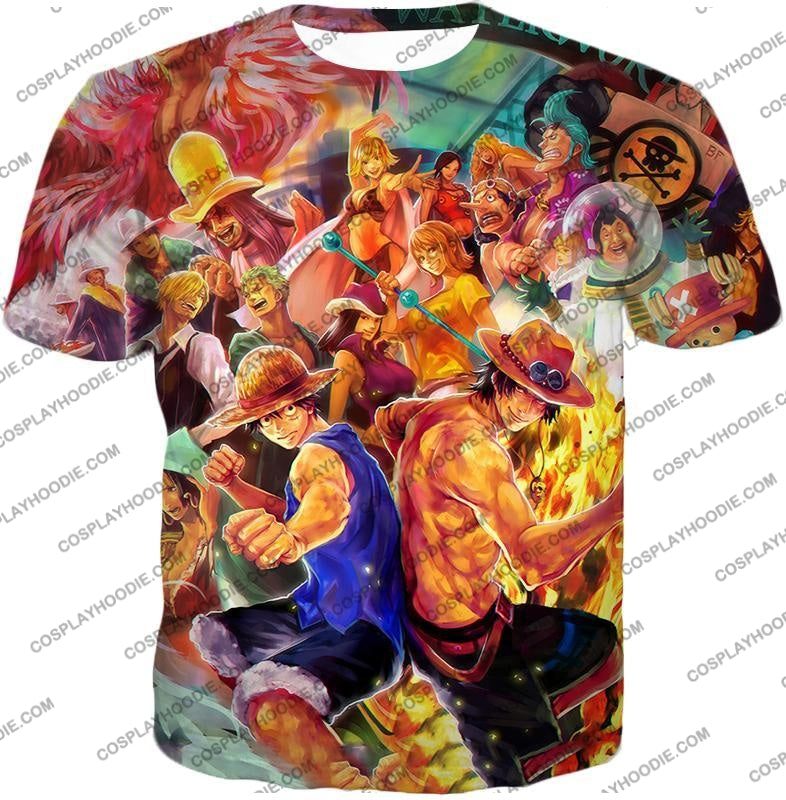 One Piece Cool All Favourite Characters Awesome T-Shirt Op113 / Us Xxs (Asian Xs)