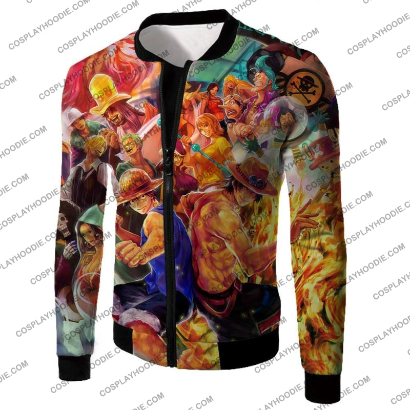 One Piece Cool All Favourite Characters Awesome T-Shirt Op113 Jacket / Us Xxs (Asian Xs)