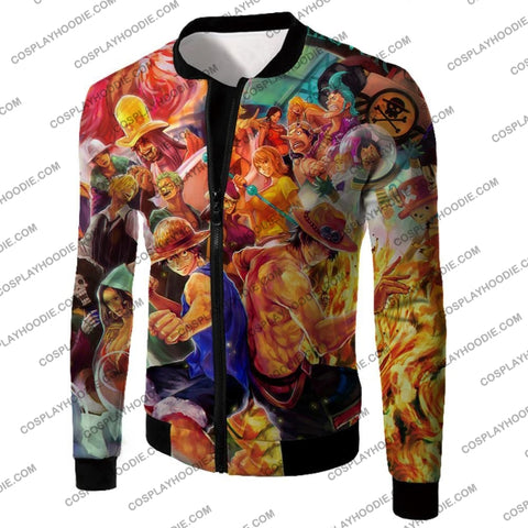 Image of One Piece Cool All Favourite Characters Awesome T-Shirt Op113 Jacket / Us Xxs (Asian Xs)