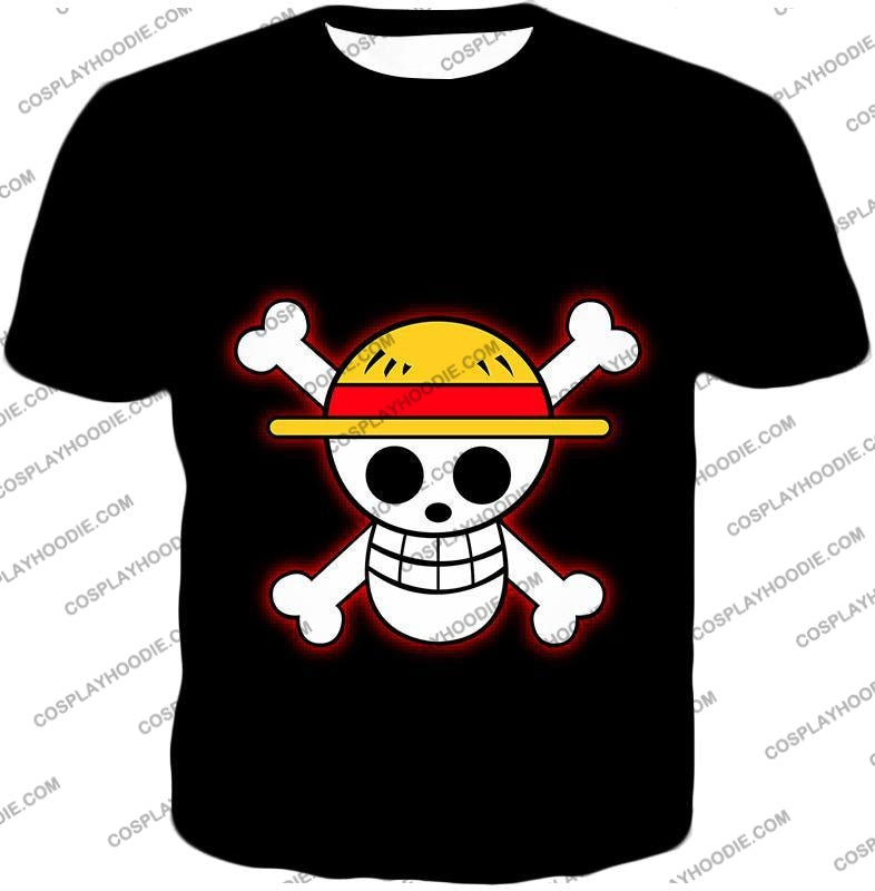 One Piece Pirate Crew Straw Hat Logo Cool Black T-Shirt Op114 / Us Xxs (Asian Xs)