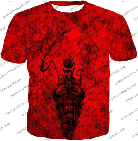 Image of Deadly Spiderman Villain Carnage Blood Red T-Shirt Sp115 / Us Xxs (Asian Xs)