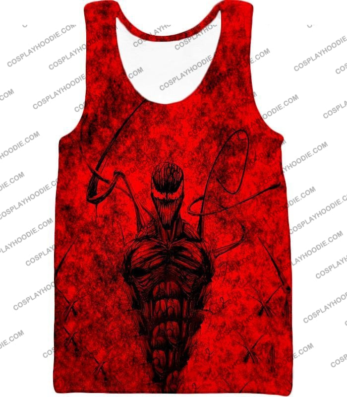 Deadly Spiderman Villain Carnage Blood Red T-Shirt Sp115 Tank Top / Us Xxs (Asian Xs)