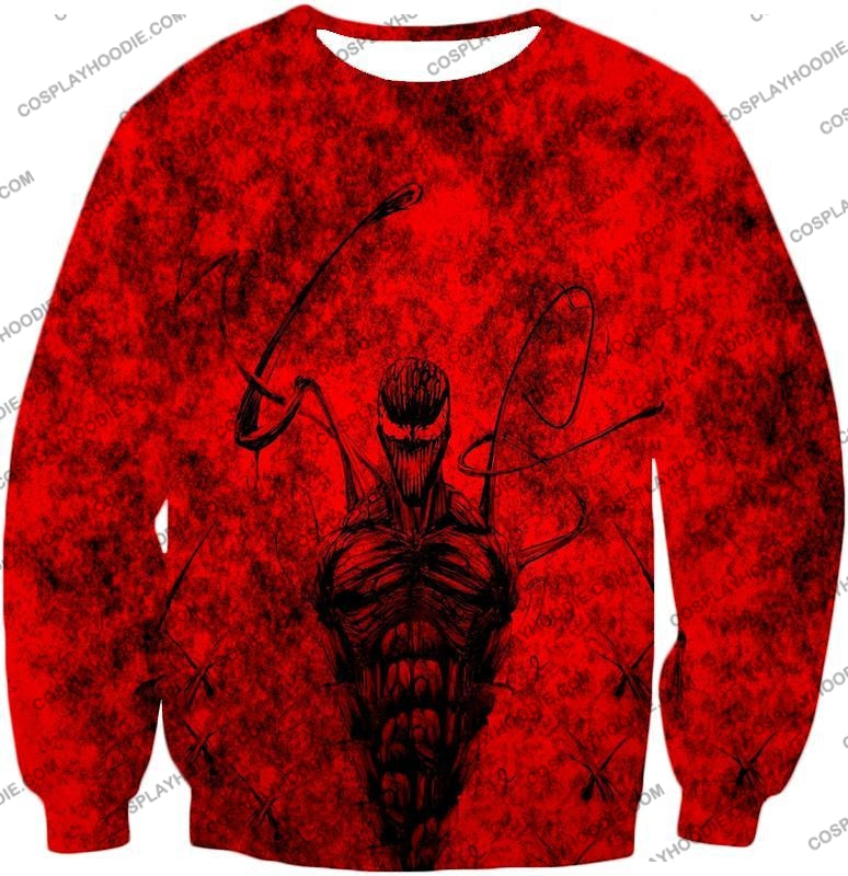 Deadly Spiderman Villain Carnage Blood Red T-Shirt Sp115 Sweatshirt / Us Xxs (Asian Xs)