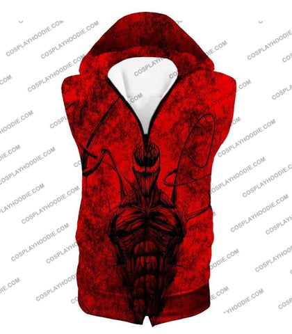 Image of Deadly Spiderman Villain Carnage Blood Red T-Shirt Sp115 Hooded Tank Top / Us Xxs (Asian Xs)