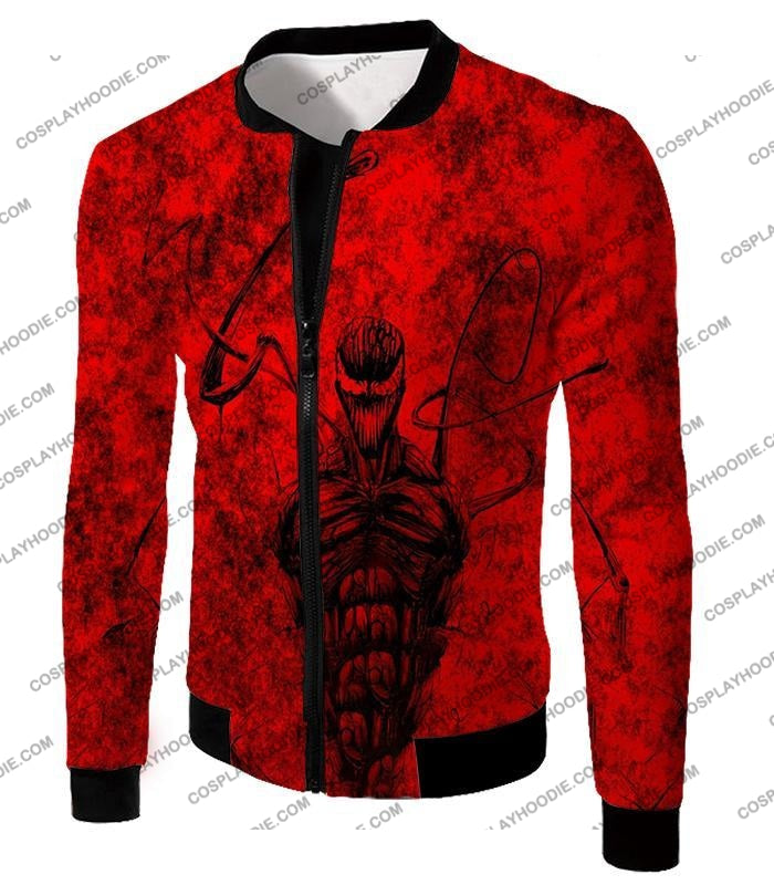 Deadly Spiderman Villain Carnage Blood Red T-Shirt Sp115 Jacket / Us Xxs (Asian Xs)