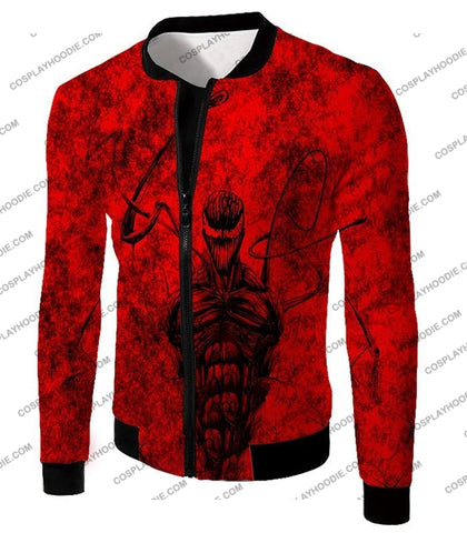 Image of Deadly Spiderman Villain Carnage Blood Red T-Shirt Sp115 Jacket / Us Xxs (Asian Xs)
