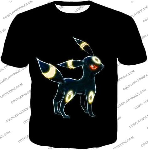 Image of Pokemon Eevee Dark Evolution Cool Umbreon Awesome Black T-Shirt Pkm119 / Us Xxs (Asian Xs)