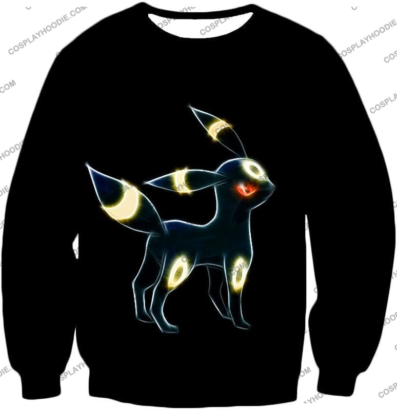 Pokemon Eevee Dark Evolution Cool Umbreon Awesome Black T-Shirt Pkm119 Sweatshirt / Us Xxs (Asian