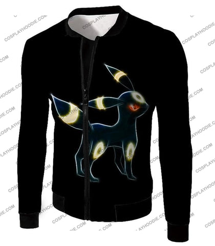 Image of Pokemon Eevee Dark Evolution Cool Umbreon Awesome Black T-Shirt Pkm119 Jacket / Us Xxs (Asian Xs)