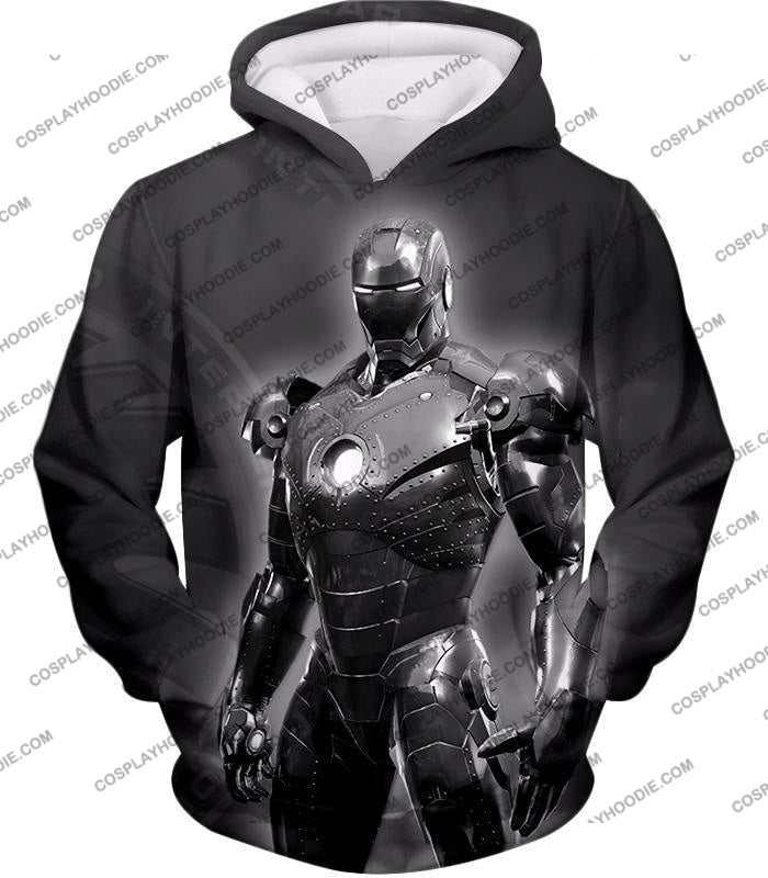 The Avengers Amazing Avenger Iron Man Black And White T-Shirt Ta012 Hoodie / Us Xxs (Asian Xs)