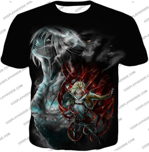 Attack On Titan Soldier Annie Leonhardt Black T-Shirt Aot012 / Us Xxs (Asian Xs)