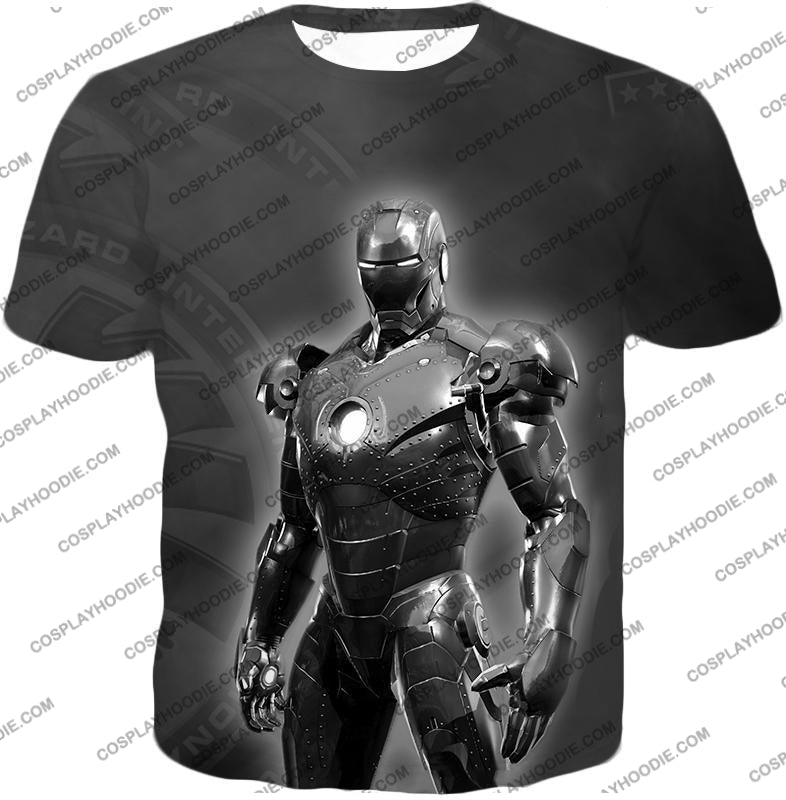 The Avengers Amazing Avenger Iron Man Black And White T-Shirt Ta012 / Us Xxs (Asian Xs)