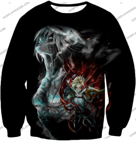 Attack On Titan Soldier Annie Leonhardt Black T-Shirt Aot012 Sweatshirt / Us Xxs (Asian Xs)
