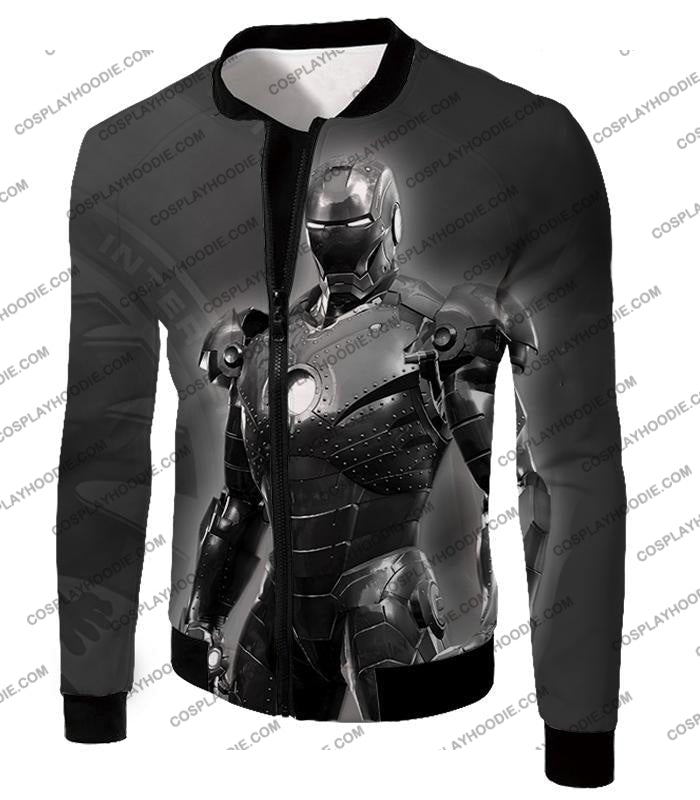 The Avengers Amazing Avenger Iron Man Black And White T-Shirt Ta012 Jacket / Us Xxs (Asian Xs)