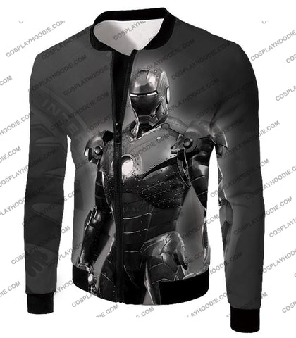 Image of The Avengers Amazing Avenger Iron Man Black And White T-Shirt Ta012 Jacket / Us Xxs (Asian Xs)