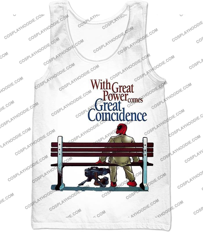 Cool Deadpool Funny Quotes White T-Shirt Dp121 Tank Top / Us Xxs (Asian Xs)